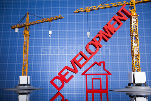 Buildings under construction and cranes  Stock photo © JanPietruszka