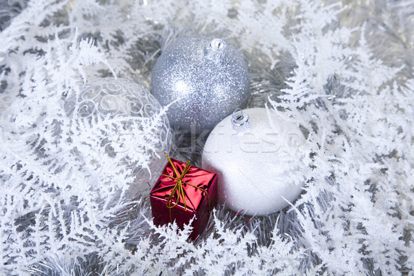 Christmas tree and Baubles, colorful saturated home concept Stock photo © JanPietruszka