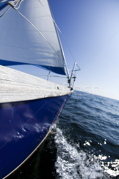 Sailing in Good Wind, summertime saturated colorful theme Stock photo © JanPietruszka