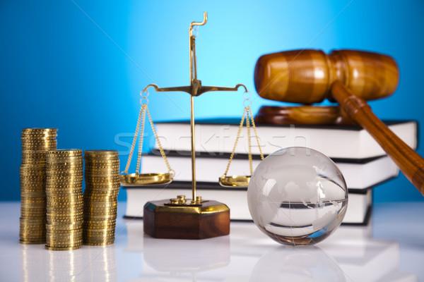 Justice Scale and Gavel Stock photo © JanPietruszka
