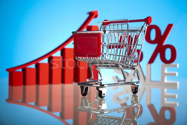 Shopping trolley, discount  Stock photo © JanPietruszka