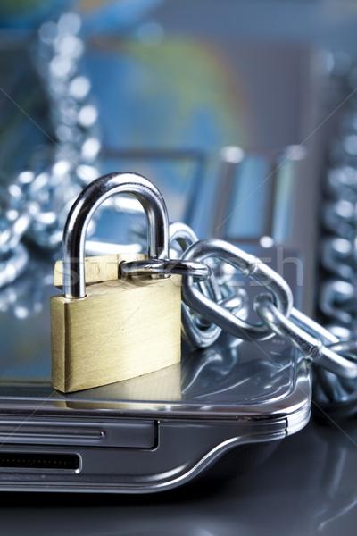 заблокированный мобильных компьютер современных сеть Сток-фото © JanPietruszka