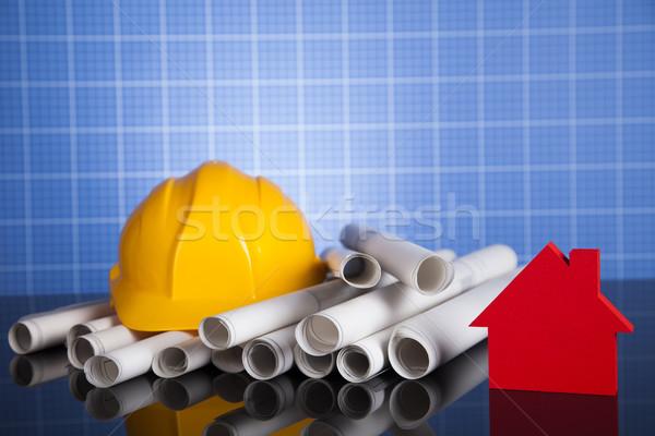 крана чертежи строительная площадка бизнеса здании Сток-фото © JanPietruszka