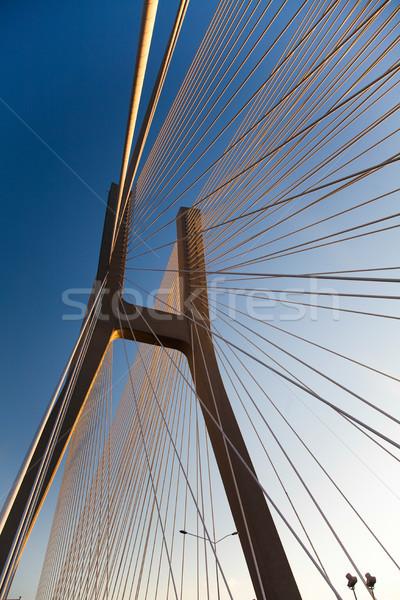 Modern híd tájékozódási pont kilátás égbolt épület Stock fotó © JanPietruszka