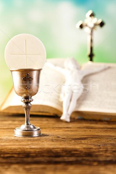 Heilig communie heldere boek jesus kerk Stockfoto © JanPietruszka