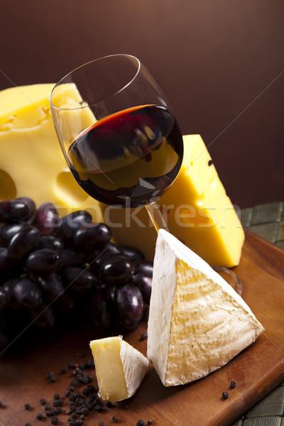 Formaggio vino rosso rurale alimentare vetro estate Foto d'archivio © JanPietruszka