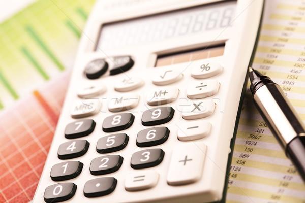Calculator, bright colorful tone concept Stock photo © JanPietruszka