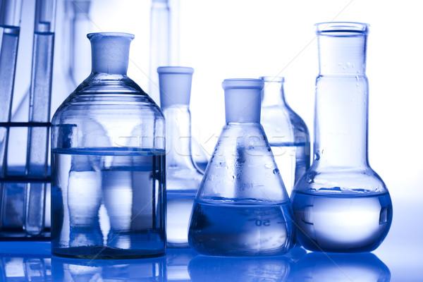 Foto d'archivio: Laboratorio · vetro · tecnologia · salute · blu · scienza