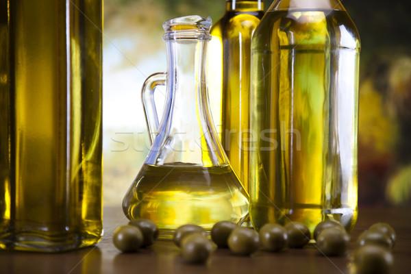 ストックフォト: オリーブオイル · オリーブ · ツリー · 食品 · 自然 · ガラス