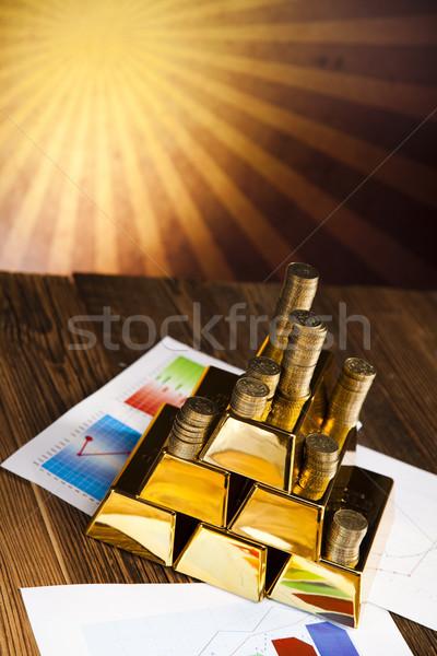 Or valeur coucher du soleil métal Finance marché Photo stock © JanPietruszka