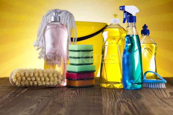 чистящие средства работу домой бутылку службе химического Сток-фото © JanPietruszka