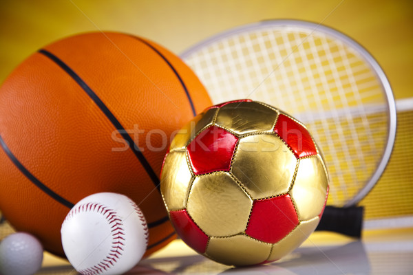 Stock photo: Sport, a lot of balls and stuff