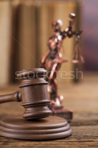 молоток свет яркий прав правосудия Сток-фото © JanPietruszka