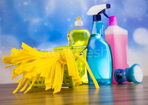 набор чистящие средства домой работу красочный группа Сток-фото © JanPietruszka