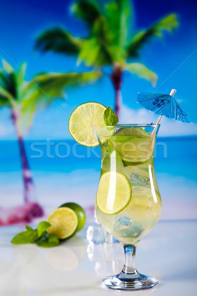 Fresh mojito drink in exotic colorful theme Stock photo © JanPietruszka