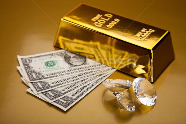Golden Bars, ambient financial concept Stock photo © JanPietruszka
