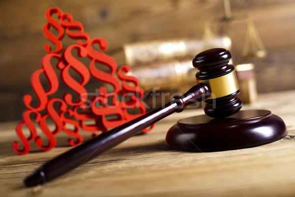 Gabela tribunal parágrafo assinar madeira justiça Foto stock © JanPietruszka