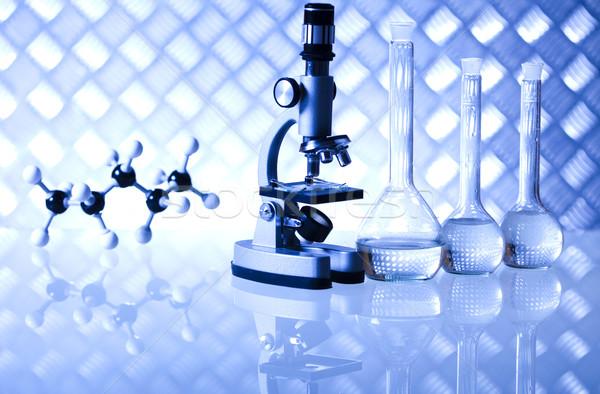 Laboratorio cristalería bio orgánico moderna médicos Foto stock © JanPietruszka