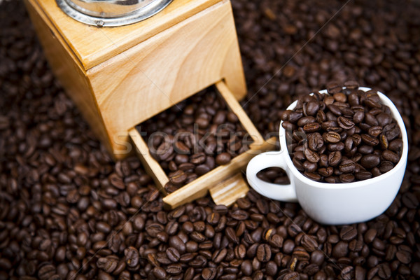Kofeina żywy jasne tekstury żywności ramki Zdjęcia stock © JanPietruszka