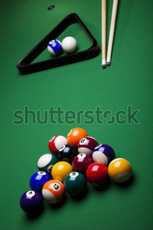 Billiard ball close up, vivid colors, natural tone Stock photo © JanPietruszka