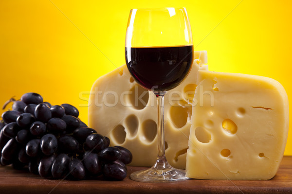 Cheese still life, saturated ambient rural theme Stock photo © JanPietruszka
