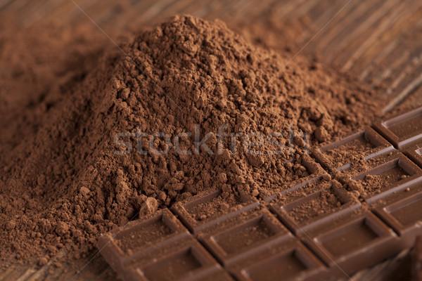 étcsokoládé tej cukorka édes sötét házi készítésű Stock fotó © JanPietruszka
