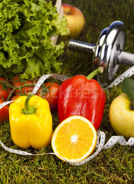 Fitness witaminy zdrowia wykonywania energii tłuszczu Zdjęcia stock © JanPietruszka