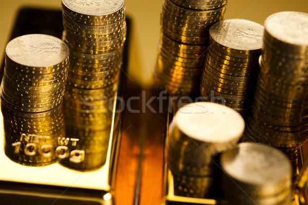 Money, coins background Stock photo © JanPietruszka
