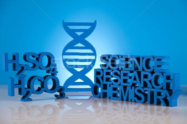 DNA鑑定を 分子 化学 式 水 デザイン ストックフォト © JanPietruszka