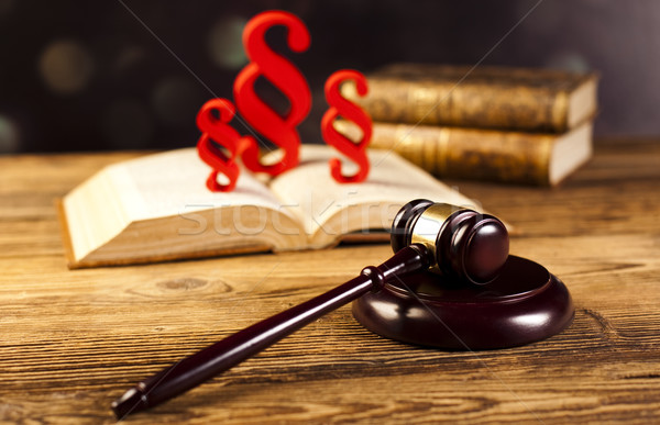 Judge gavel, Paragraph sign symbol Stock photo © JanPietruszka