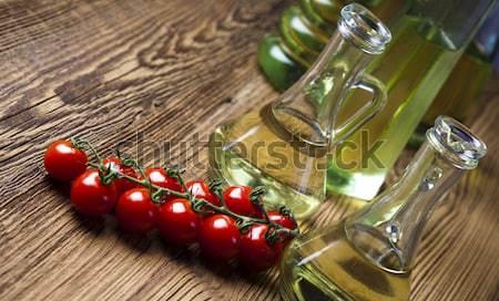Aceite de oliva mediterráneo rural hoja vidrio verde Foto stock © JanPietruszka
