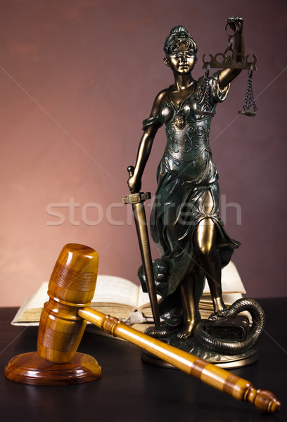 Stock photo: Statue of lady justice