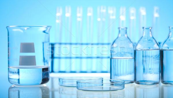 Foto d'archivio: Laboratorio · cristalleria · medici · Lab · chimica · strumento