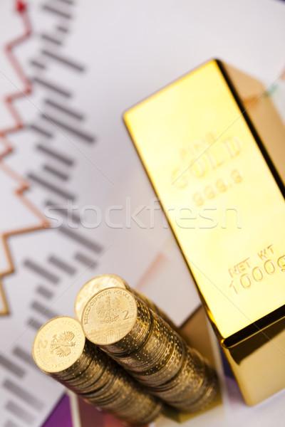 Gold bars background Stock photo © JanPietruszka