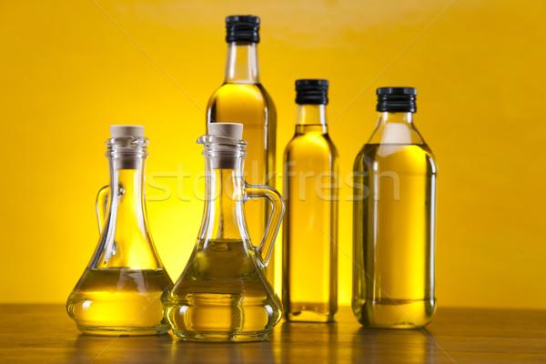 дополнительно девственница оливкового масла дерево солнце фрукты Сток-фото © JanPietruszka