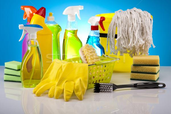 Domu czyszczenia produktu pracy domu butelki Zdjęcia stock © JanPietruszka