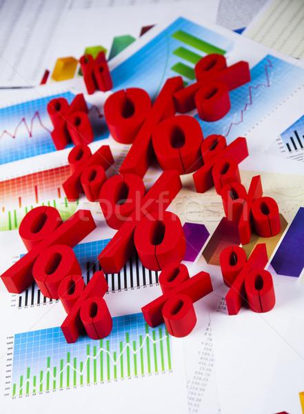 Százalék felirat természetes színes piros pénzügy Stock fotó © JanPietruszka