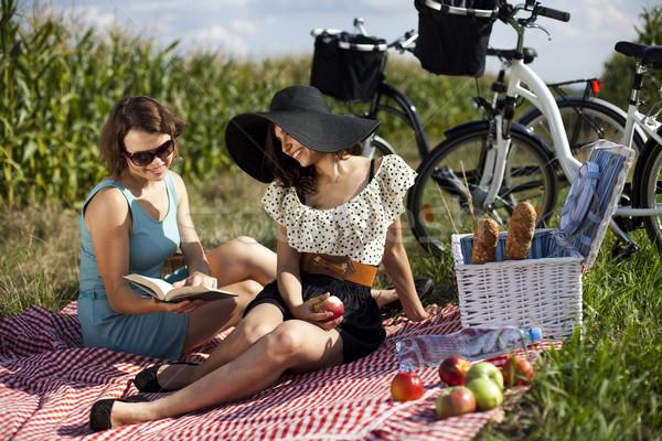 Girls, summer free time spending Stock photo © JanPietruszka