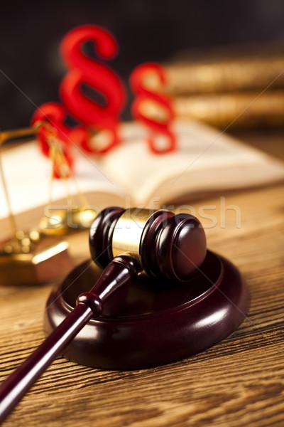 Judge gavel, Paragraph sign symbol Stock photo © JanPietruszka