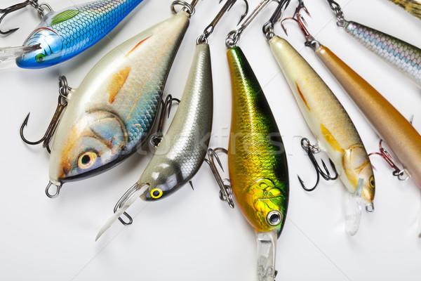 Fly fishing tackle, saturated natural tone theme Stock photo © JanPietruszka