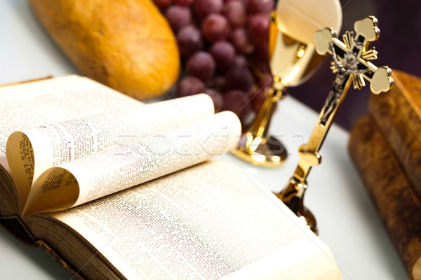 Hristiyan cemaat parlak İsa ekmek Stok fotoğraf © JanPietruszka