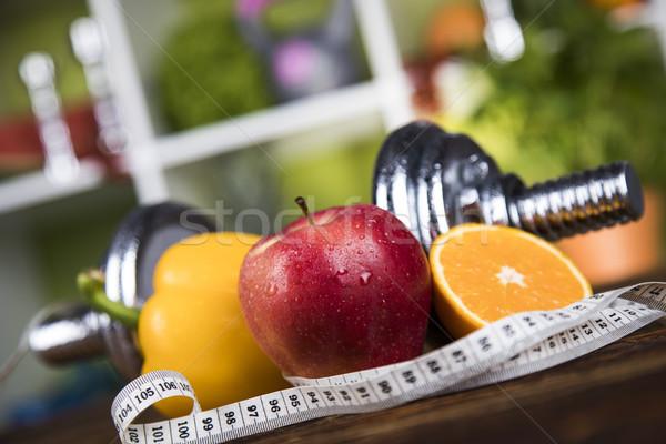 Dieta fitness vitamina cuerpo frutas Foto stock © JanPietruszka