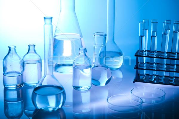 Stock fotó: Laboratórium · üvegáru · hely · tudományos · kutatás · környezeti · kutatás