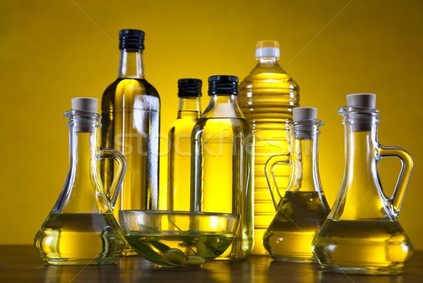 ストックフォト: オリーブオイル · ツリー · 太陽 · フルーツ · 健康 · フィールド