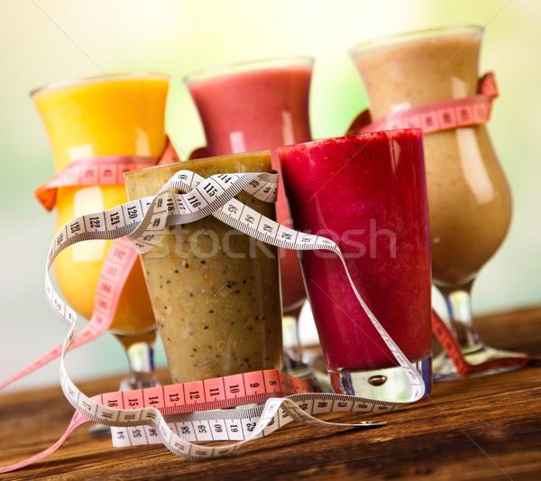 Stock foto: Gewichtsverlust · Fitness · gesunden · frischen · Obst · Gesundheit