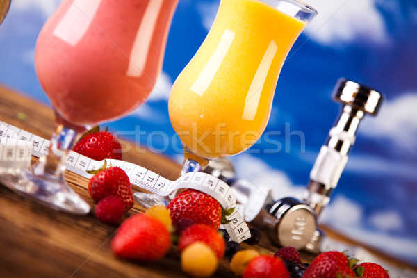 Protein shakes, sport and fitness Stock photo © JanPietruszka
