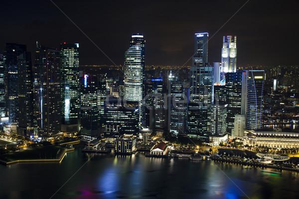 Skyline, financial centre, travel vivid theme Stock photo © JanPietruszka