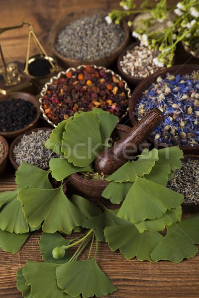 Természetes jóvátétel fa asztal fa természet szépség Stock fotó © JanPietruszka
