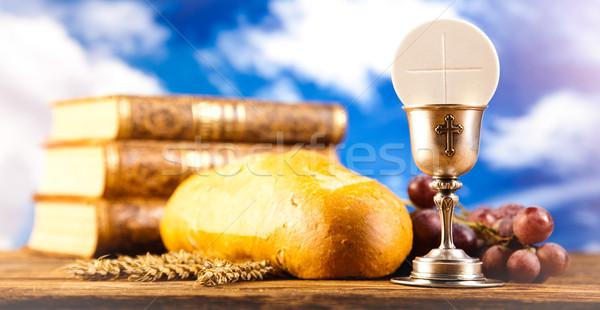 святой общение ярко книга Иисус Церкви Сток-фото © JanPietruszka