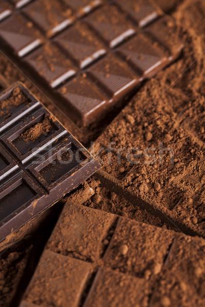Oscuro casero chocolate bares vaina Foto stock © JanPietruszka